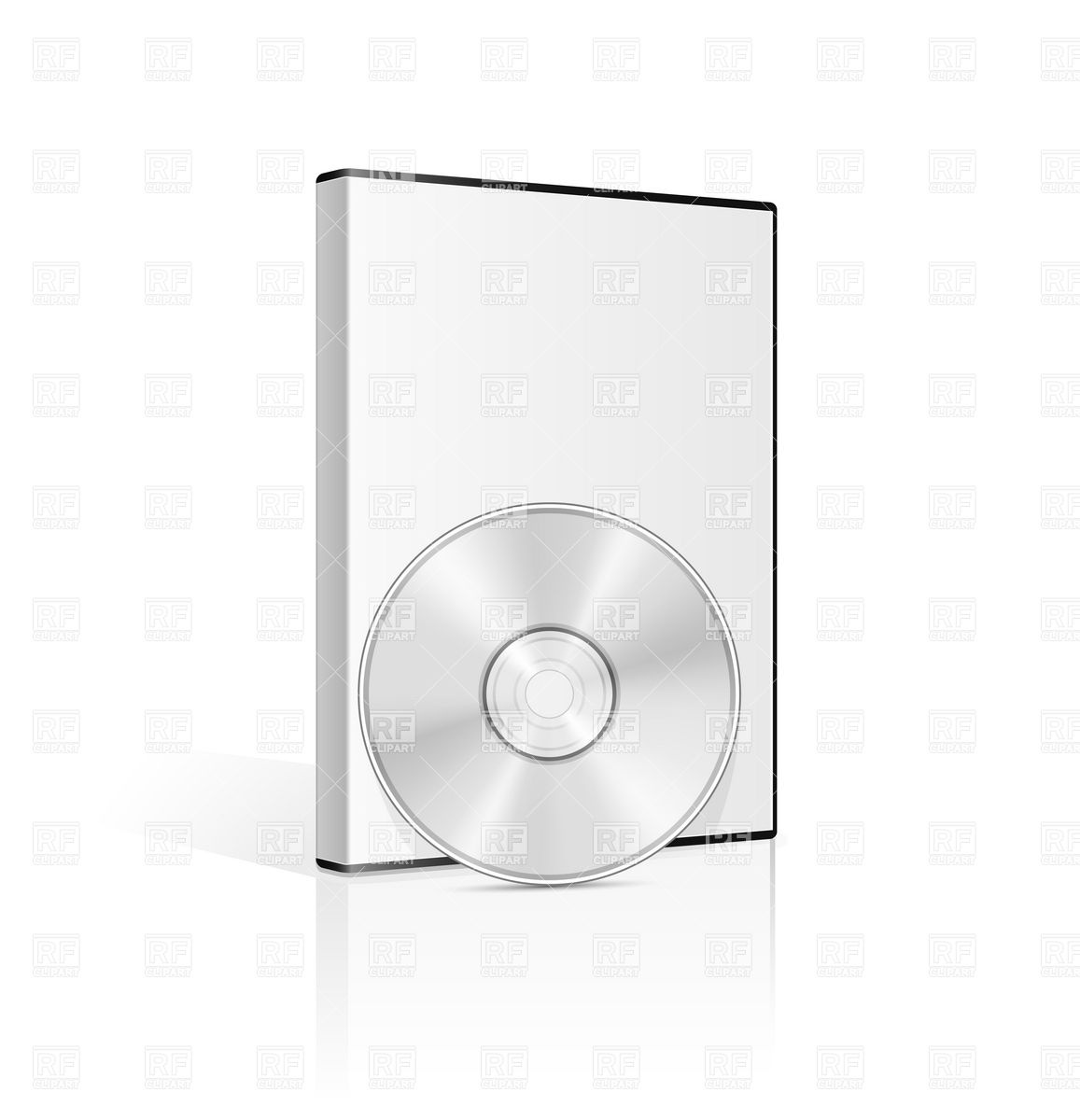 DVD case and CD disk Vector Image #5650.