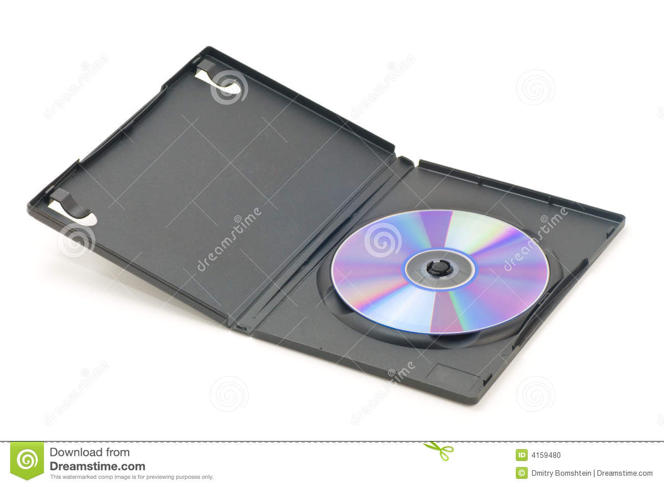 Open DVD Case Stock Photo.