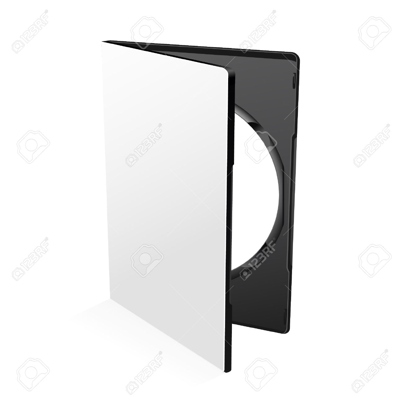 Blank Dvd Case Isolated On White With Disc Inside Royalty Free.