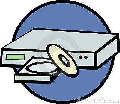 Dvd player clip art.