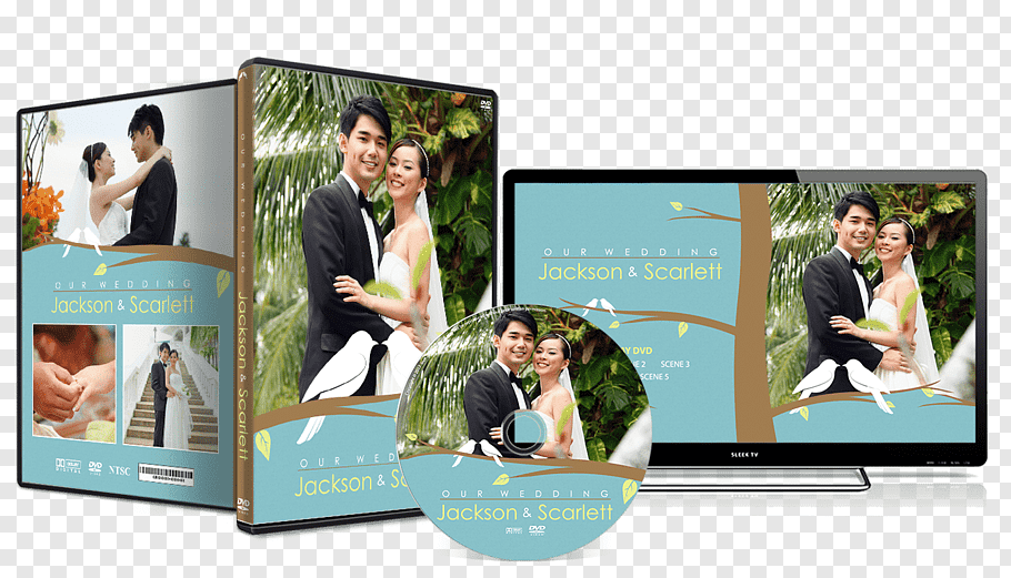 DVD case, Wedding invitation Graphic design DVD Cover art.