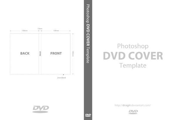 DVD Cover Template for Photoshop by dragit on DeviantArt.