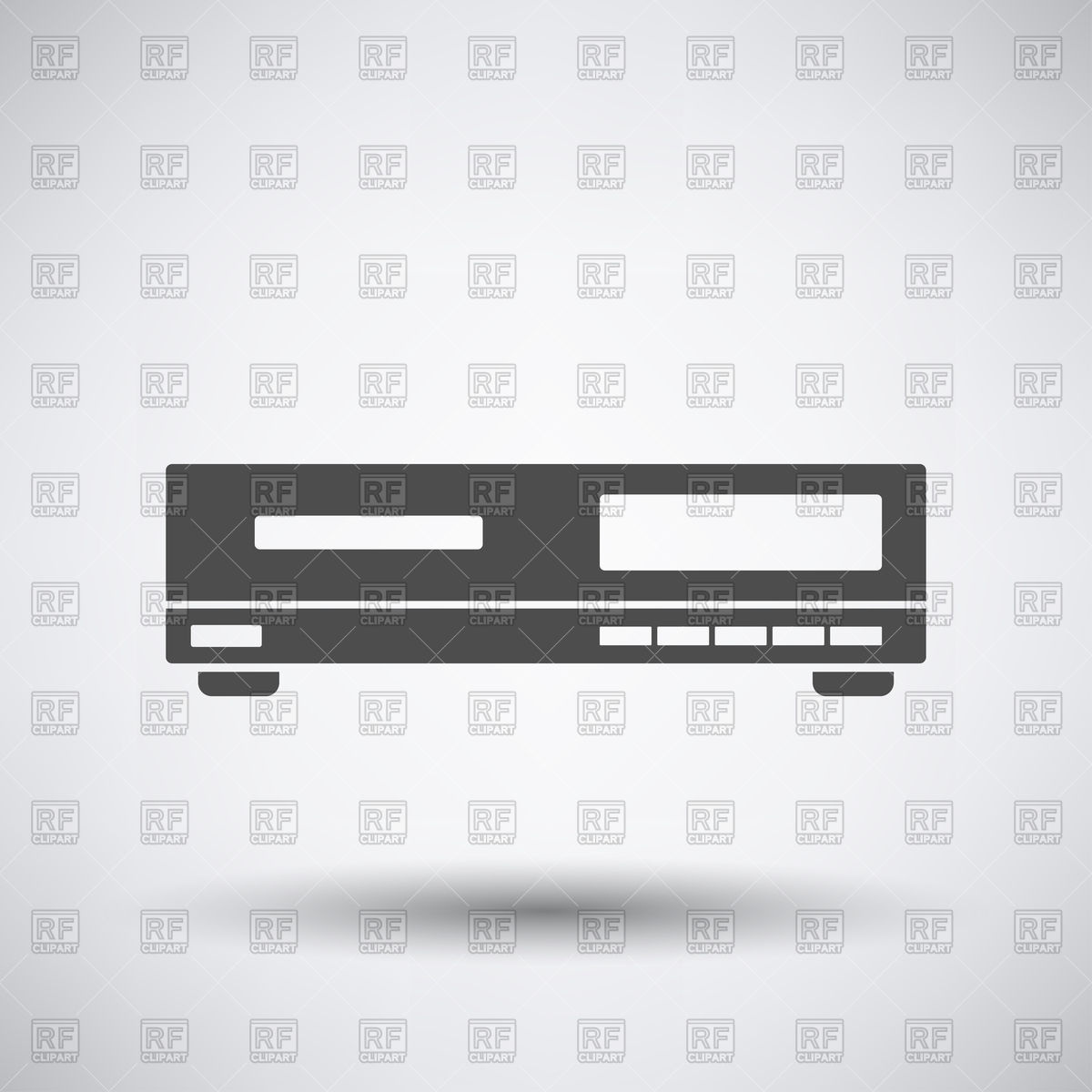 Video cassette recorder (videotape recorder) or DVD player icon.