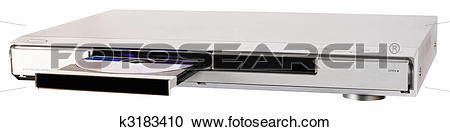 Stock Photography of DVD recorder with open tray k3183410.