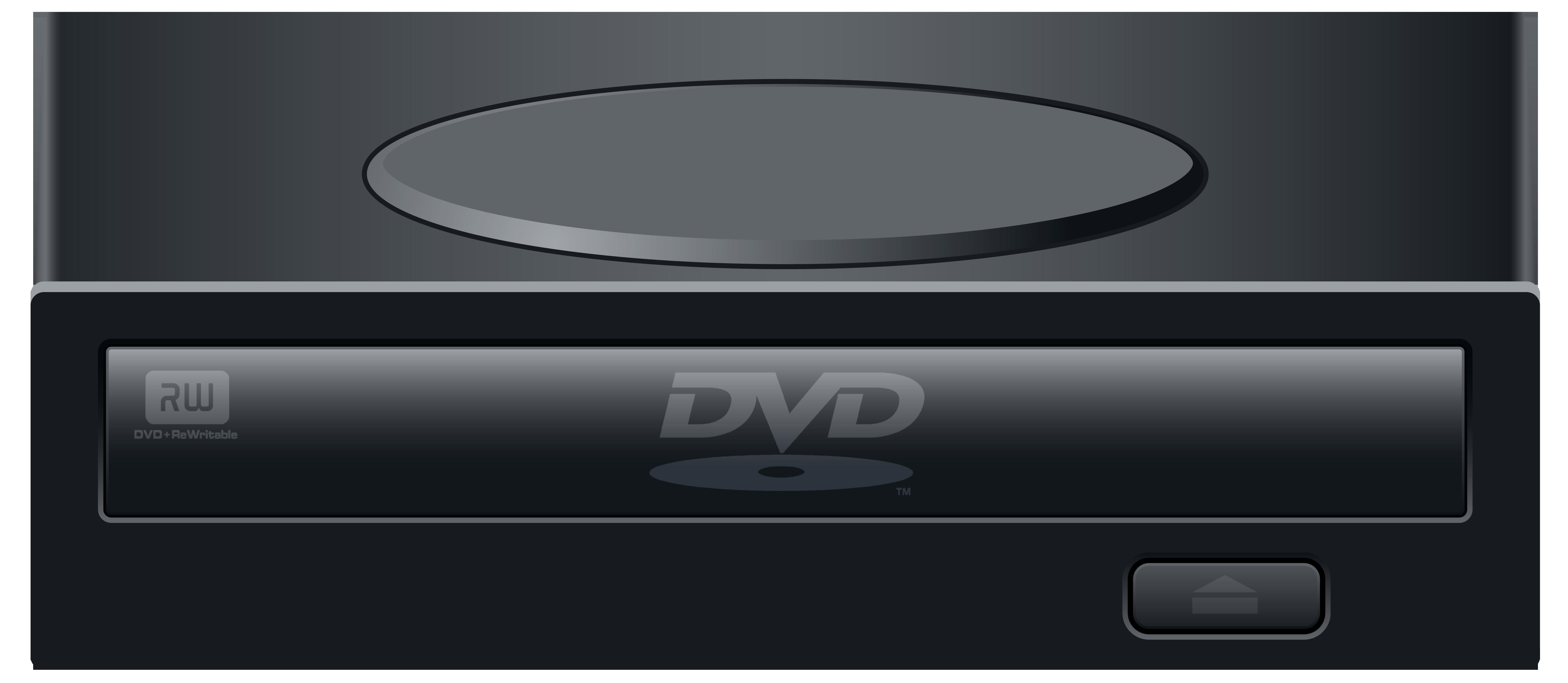 Black External DVD ROM Drive PNG Clipart.