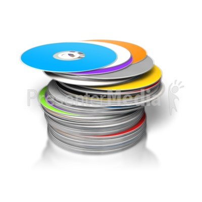 DVD Stack with Disc on Top.