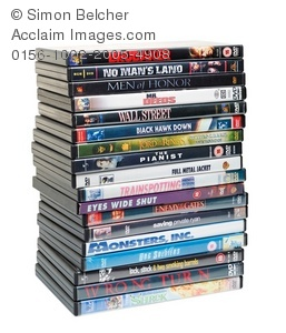 Stack Of Dvds Clipart.