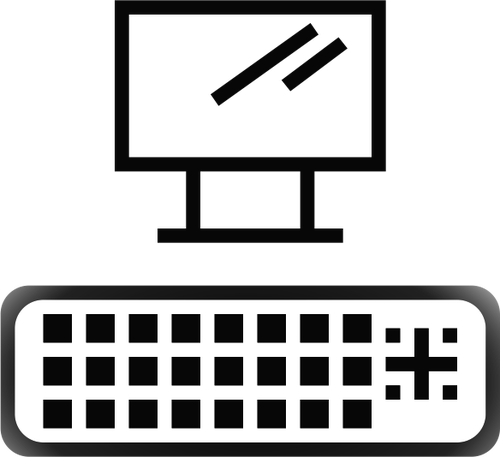 DVI port icon vector image.