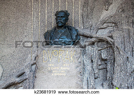 Stock Photograph of Tomb of the famous czech composer Antonin.