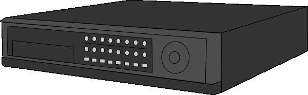 Digital Video Recorder 16 Channels Clip Art.