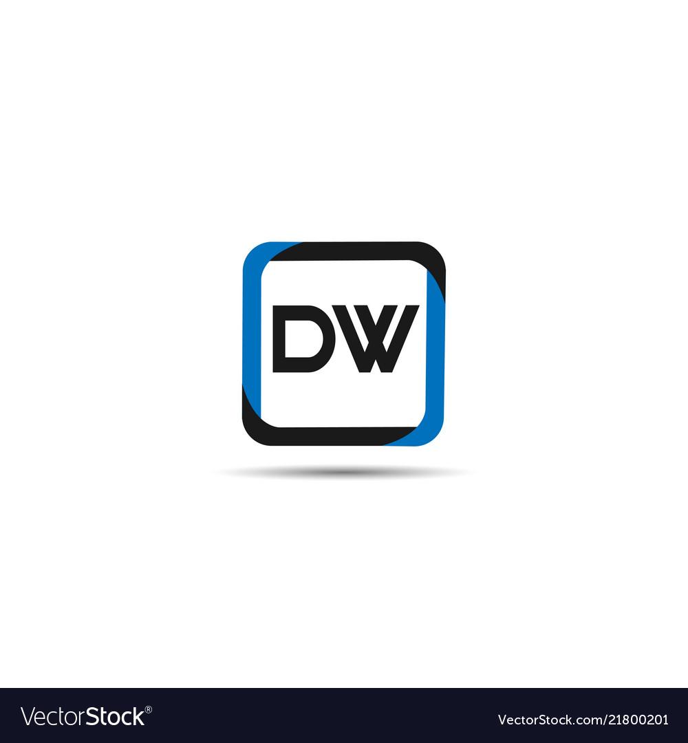 Initial letter dw logo template design.