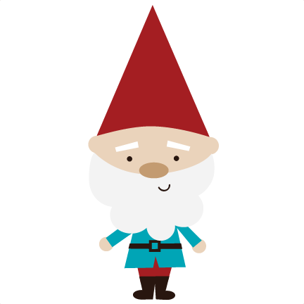 Garden gnome clipart red.