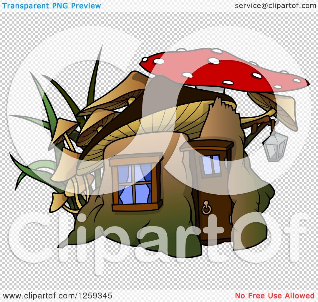 Clipart of a Dwarf Mushroom House.