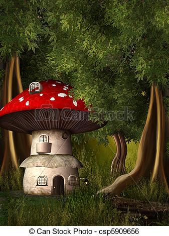 Stock Illustration of dwarf land 3.