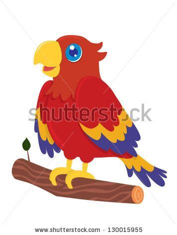 Parrot clipart cartoon.