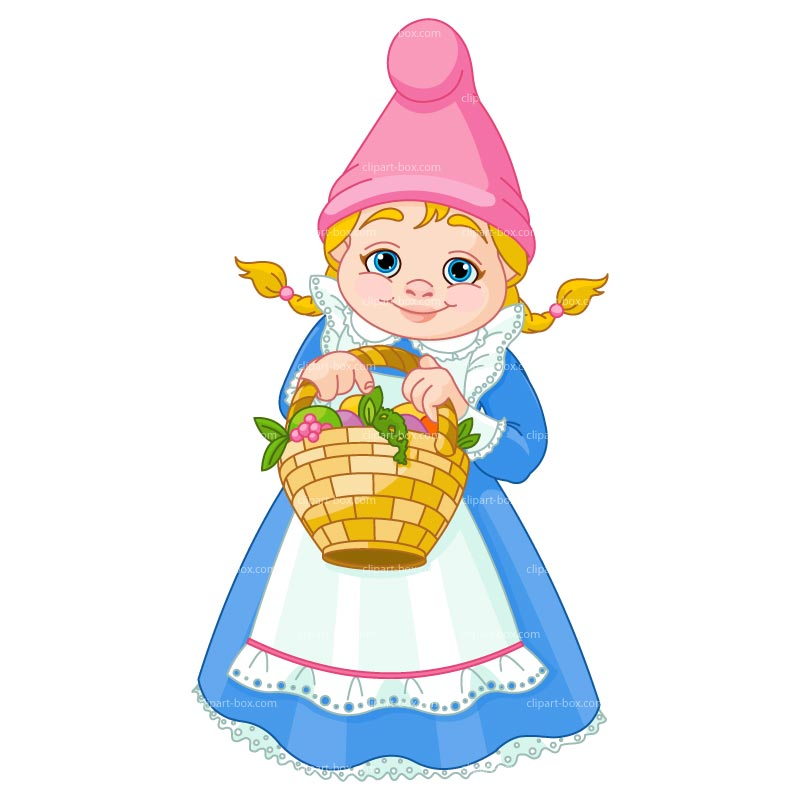 CLIPART GNOME GIRL.
