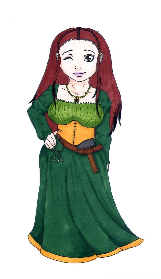 Dwarf woman by Moredis on DeviantArt.