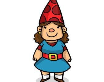 Girl gnome clipart.
