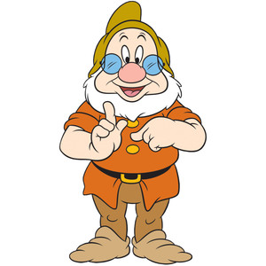 Snow white dwarfs clipart.