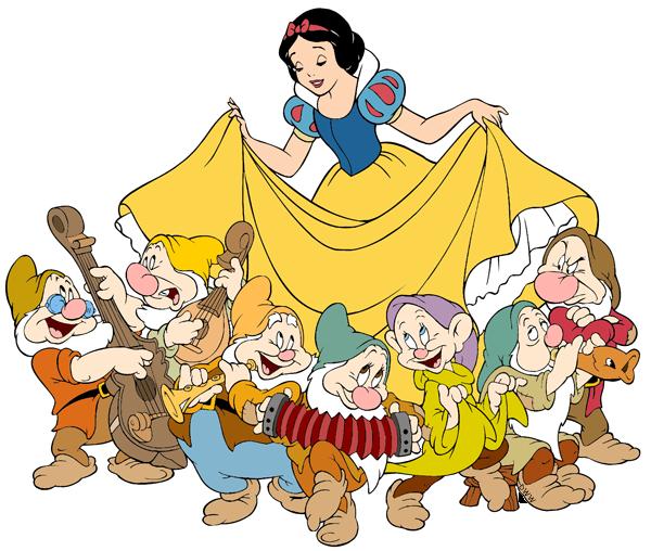 The Seven Dwarfs Clip Art Images.
