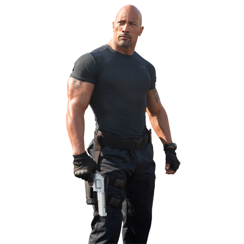 Dwayne Johnson ( Fast & Furious) PNG Image.