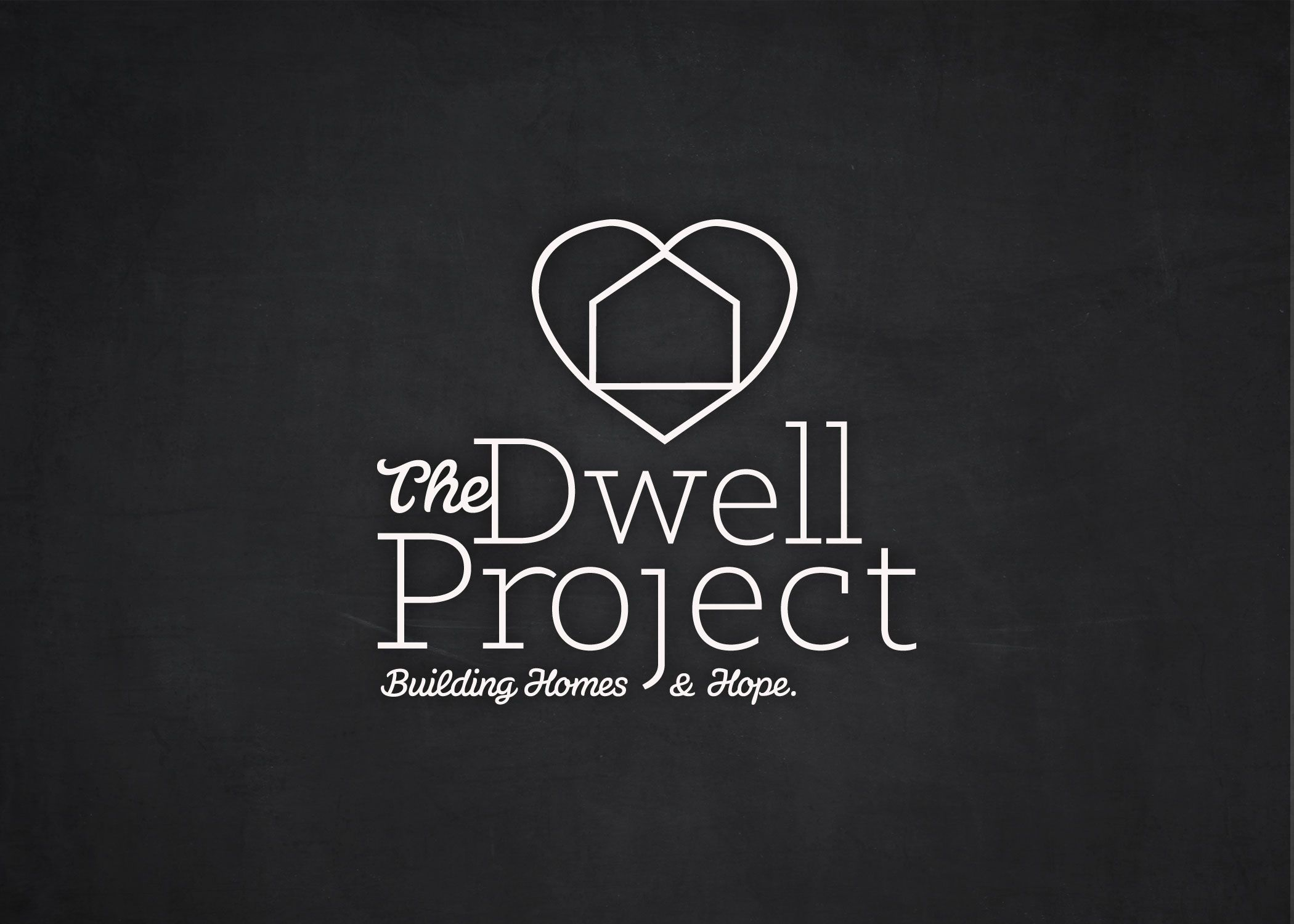 The Dwell Project custom logo design.