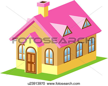 Clipart of dwelling, house, structure, building, architecture.