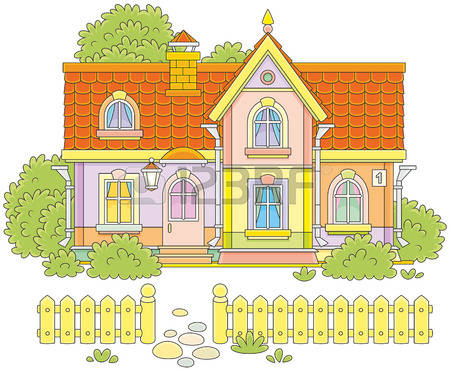 445 Private Dwelling Stock Vector Illustration And Royalty Free.