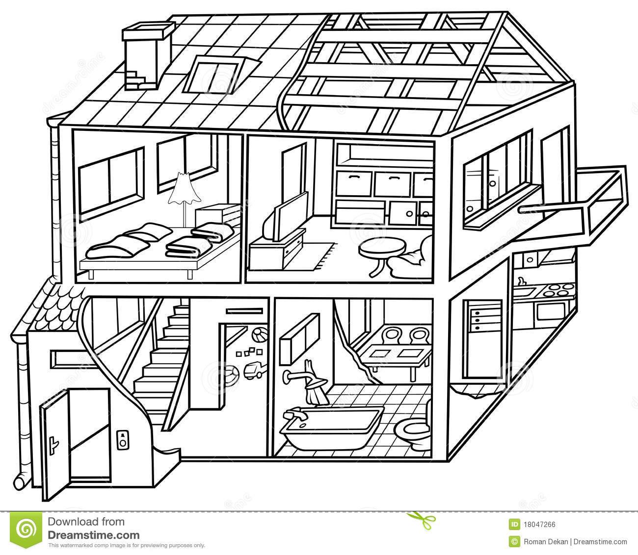 Dwelling House Royalty Free Stock Image.