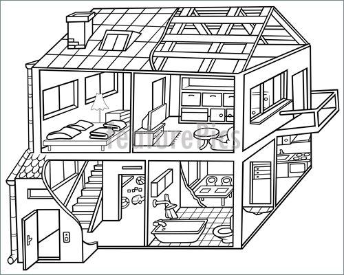 Dwelling House Illustration.