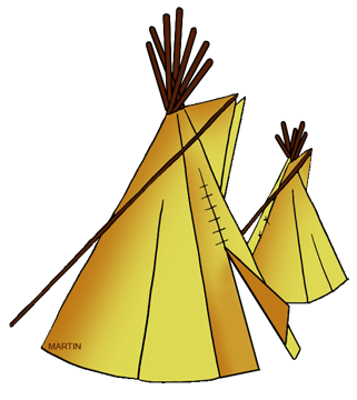 Free Native American Dwellings Clip Art by Phillip Martin.