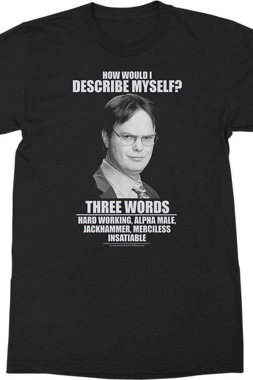 Dwight Schrute Describe Myself The Office T.