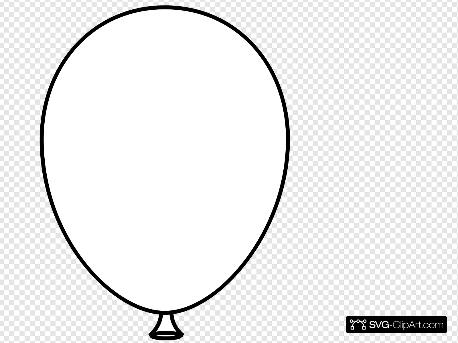 White Balloon Bold Clip art, Icon and SVG.