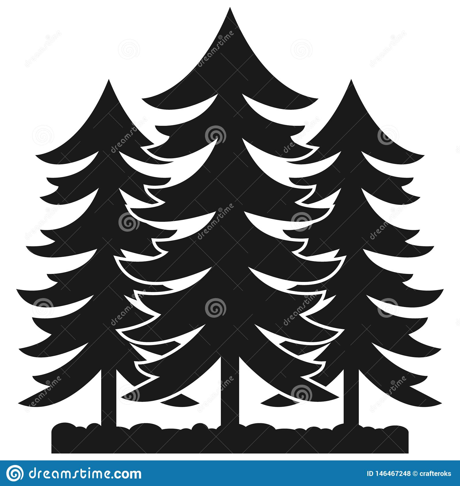 Forest Vector EpsHand Drawn, Crafteroks, Svg, Free, Free Svg File.