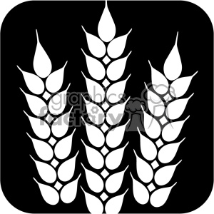 wheat svg files dxf vector clipart. Royalty.