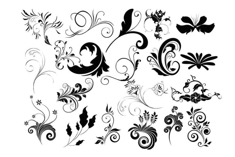 Free Flourish Clipart SVG DXF EPS PNG AI Crafter File All Limited.