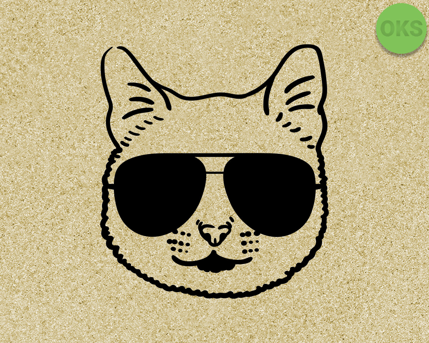 cat with sunglasses svg, dxf, vector, eps, clipart, cricut.