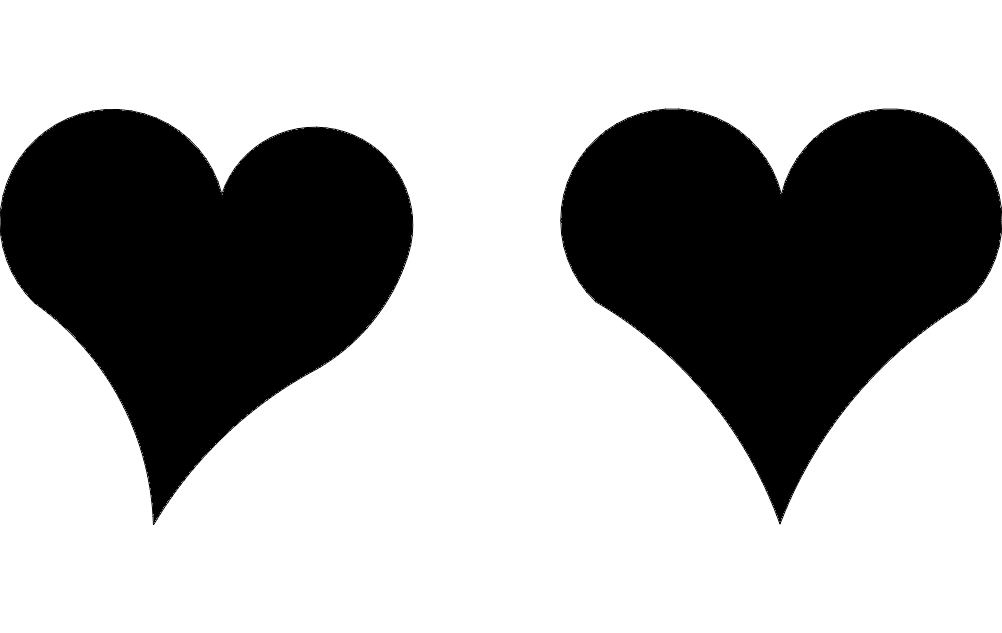 Hearts dxf File Free Download.