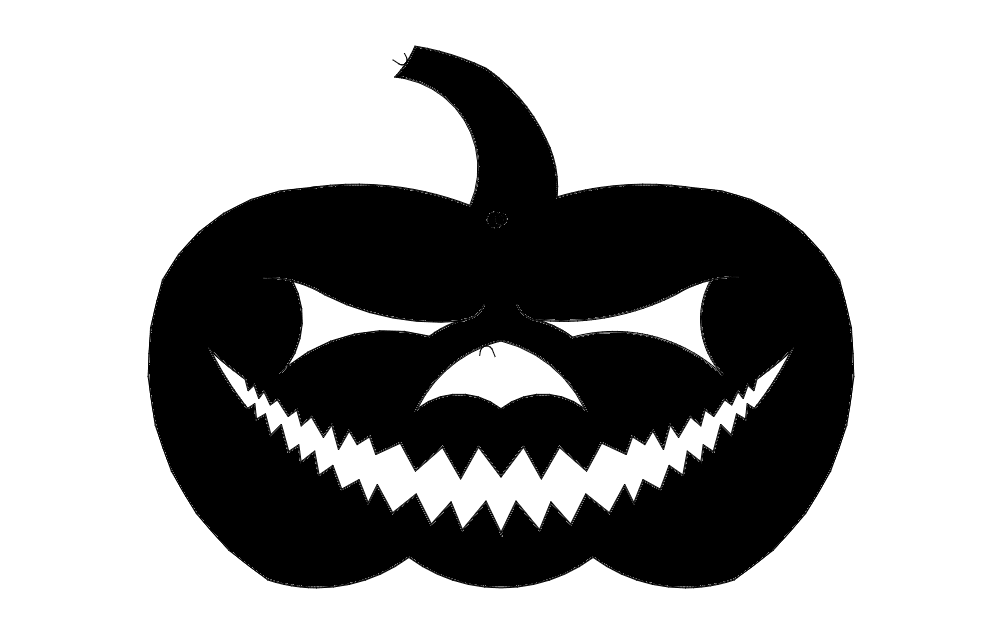 Jack O Lantern dxf File Free Download.
