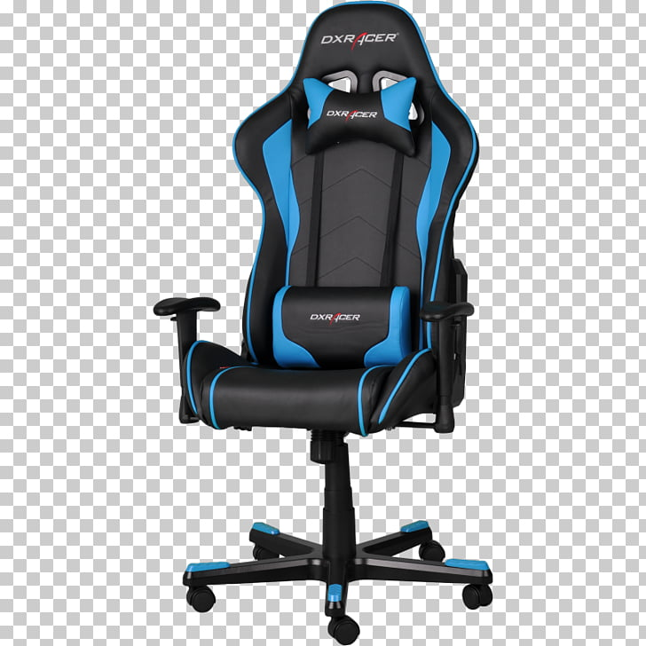 Gaming chair DXRacer Video game Seat, chair PNG clipart.