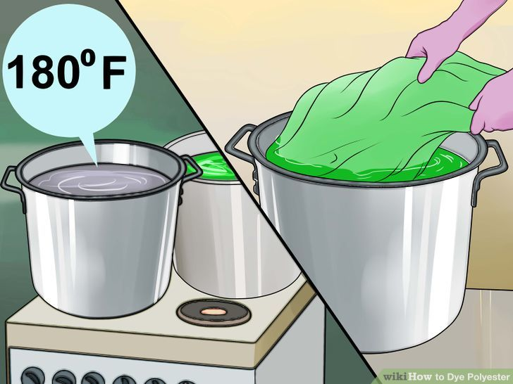 How to Dye Polyester (with Pictures).