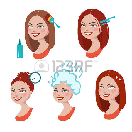 586 Dyed Hair Stock Vector Illustration And Royalty Free Dyed Hair.