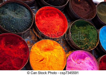 Stock Photography of Fabric dyes in Peru.