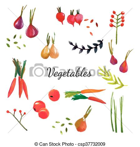 Vector Clipart of Natural fabric dyeing. Traditional cotton and.