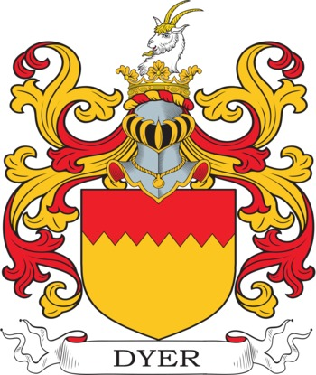 Dyer Coat of Arms Meanings and Family Crest Artwork.