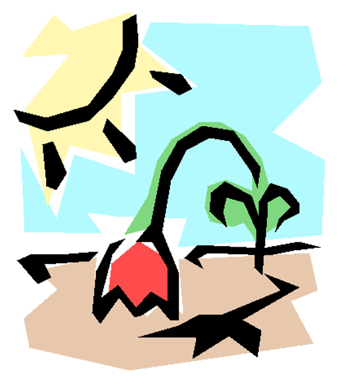 Dying plant clip art.