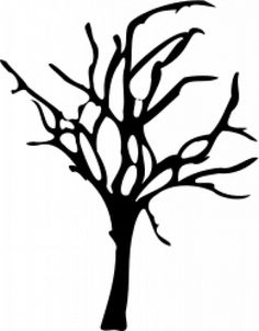 A dying tree clipart.
