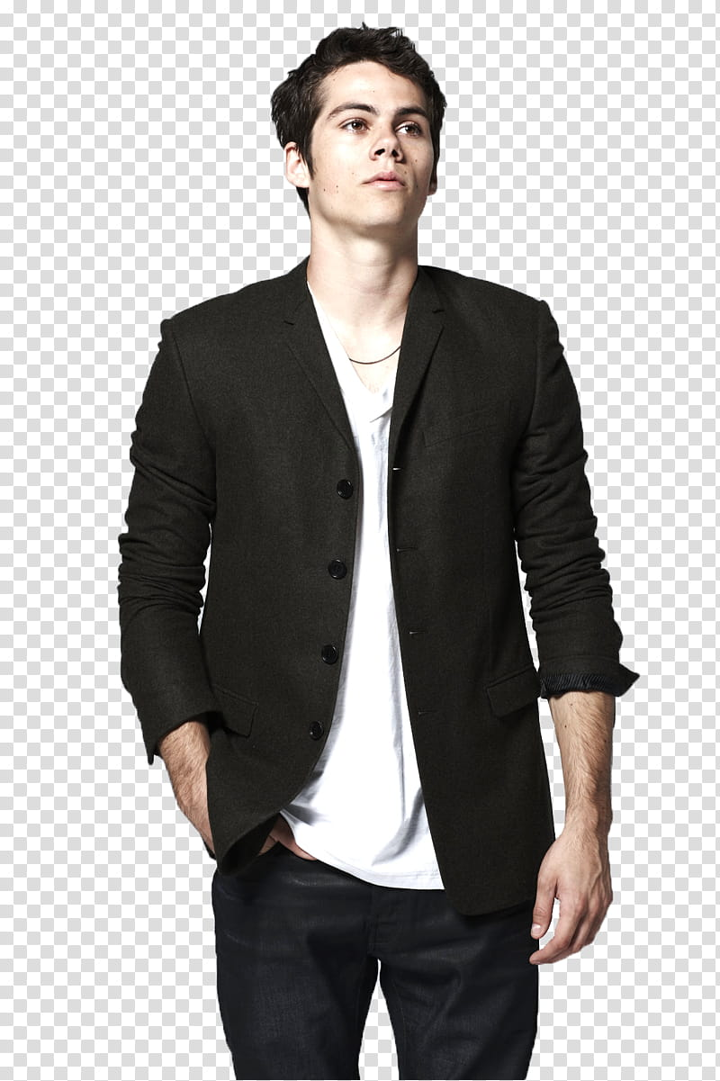 Dylan O Brien, man wearing black button.
