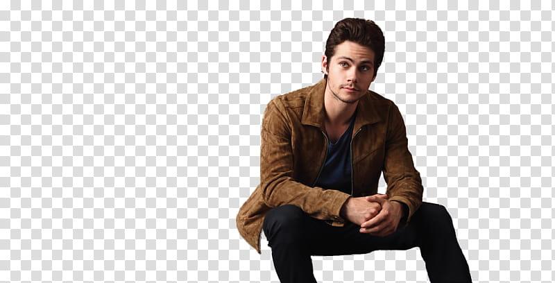 Dylan O Brien, man wearing brown jacket transparent.