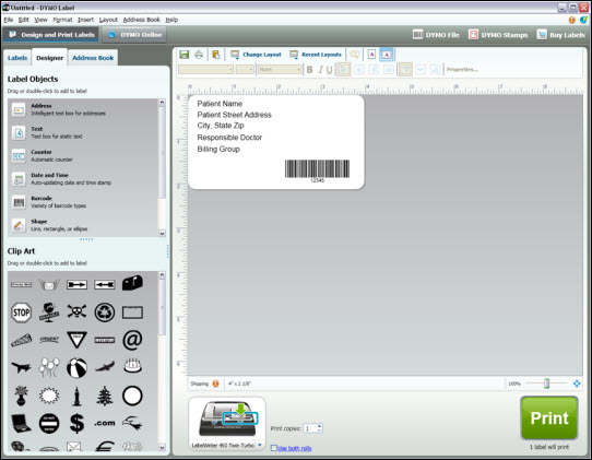 DYMO Label Setup Process.
